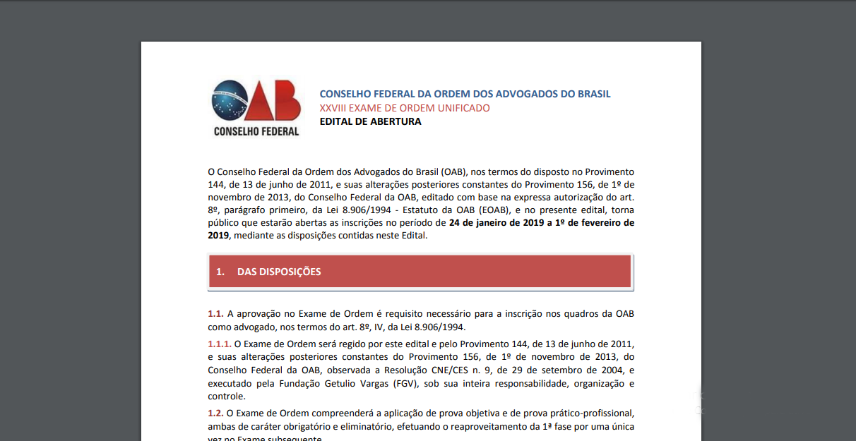 Edital OAB